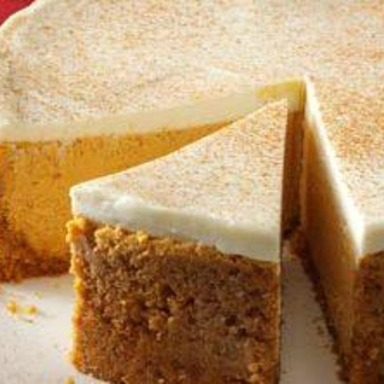 Pumpkin Cheesecake With Sour Cream Topping Recipe Recipe Sour Cream Cheesecake Desserts Pumpkin Dessert