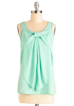 Hello, Bow! Top in Mint, #ModCloth