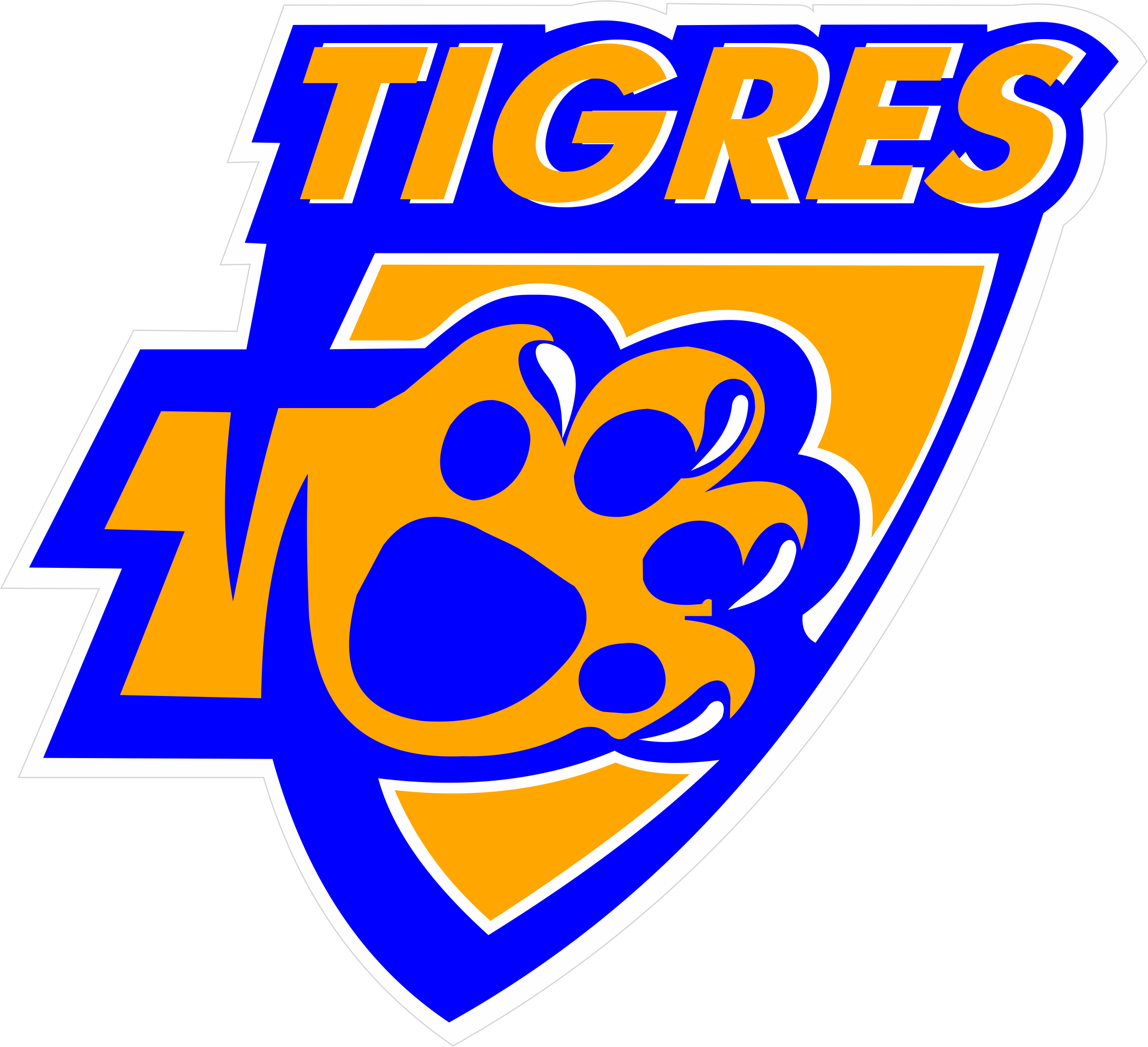 Vintage,Tigres FC FOOTBALL SOCCER WORLD LOGOS