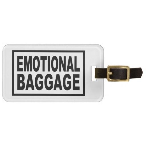 """EMOTIONAL BAGGAGE"" Typography Luggage Tag"