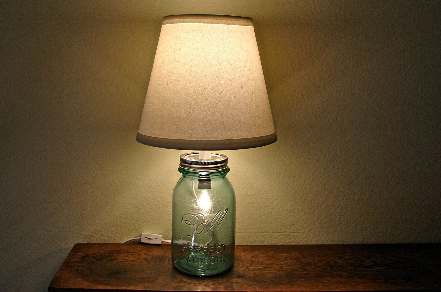 Why Mason Jars Are Marvellous | Projects to Try | Pinterest | Blue ... for How To Make Handmade Lamps  557yll