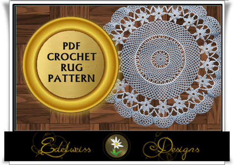 Looking for your next project? You're going to love Walk all over me Crochet Rug Pattern  by designer DesignsEdelweis.