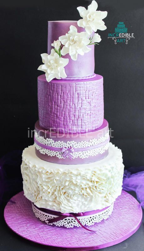 """Wrapped Amethyst""- Wedding Cake"