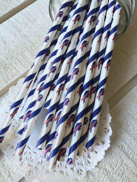 Buffalo Bills Paper Straws