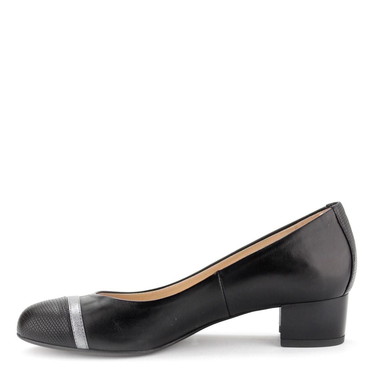 0dfce274238c Kotyl fekete női bőr cipő 4 cm magas sarokkal | ChiX.hu cipő webáruház Kotyl