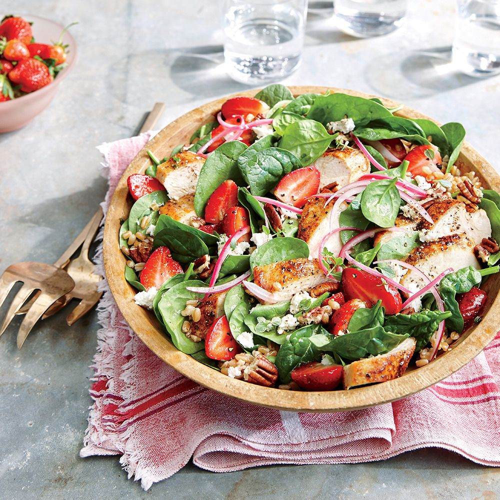 Strawberry-Chicken Salad with Pecans - Healthy Strawberry Recipes - Cooking Light