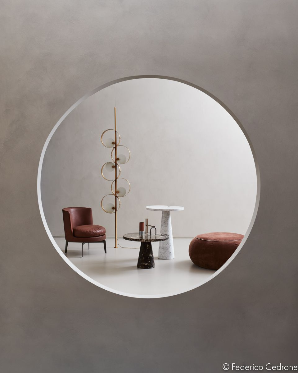 Curved Lines Design Spaces Inhabited By Furnishings And