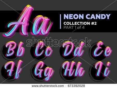 , Vector Neon Character Typeset Glowing Letters Stock Vector (Royalty Free) 673392028, MySummer Combin Blog, MySummer Combin Blog