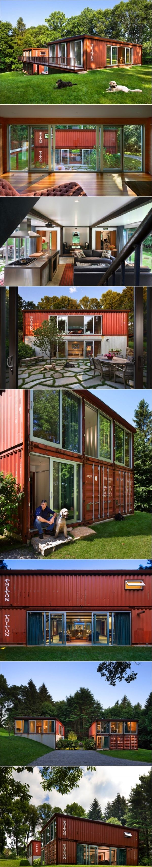 adam kalkin u0027s old lady house is a modern shipping container