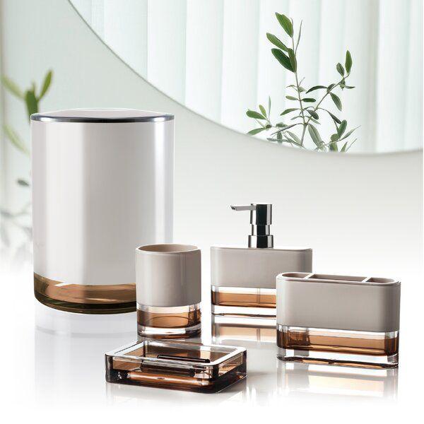 Angelou 5 Piece Bathroom Accessory Set, Modern Bathroom Accessory Sets