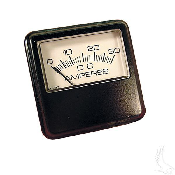 Ammeter, 30A, Square gauge - before 12/90