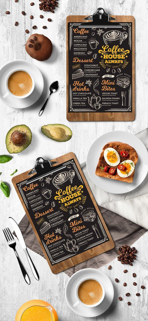 Coffee Menu Template Creative And Modern Food Menu Templates For Your Restaurant Business More Coffee M Nombres De Cafetería Locales De Comida Menú De Café