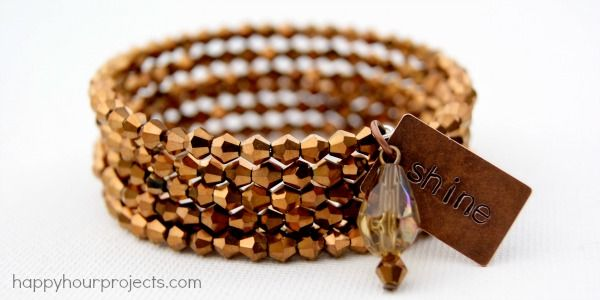 Bronze Memory Wire Bracelet | I can do that! | Pinterest