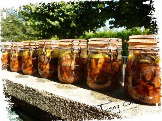 Bourguignon en bocaux conserves recettes de cuisine plats en bocaux recette - Sterilisation plats cuisines bocaux ...