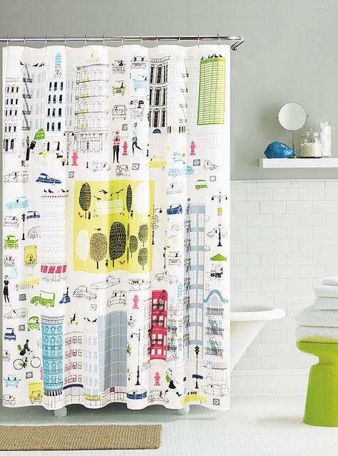 KateSpade Shower Curtain AboutTown