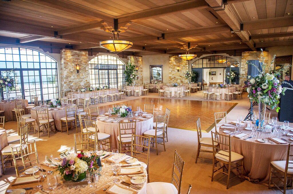 Elegant golf club wedding carmel ca table decorations