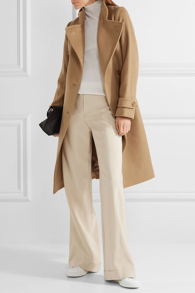 0443aad17fc67 NWT VINCE WOOL CASHMERE TRENCH COAT. Lush Italian wool blended with soft  cashmere brings chill
