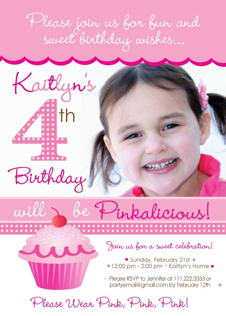 Pinkalicious Party Invitations citibank thank you card farewell – Pinkalicious Birthday Invitations