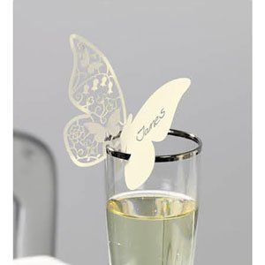 Butterfly Wedding Place Cards Marque En Papillon Noces De Cana Planner