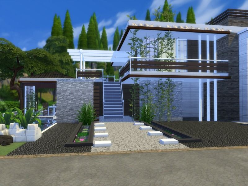 Modern Home featuring kitchen with breakfast bar,dining area,and ...