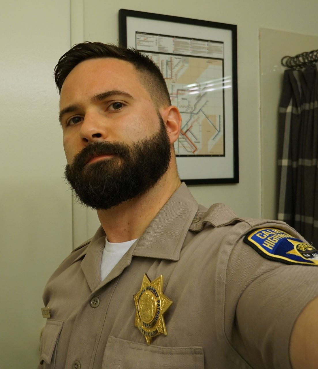 Police haircuts for men yes sir  beard envy  pinterest  alpha male bear men and manly man