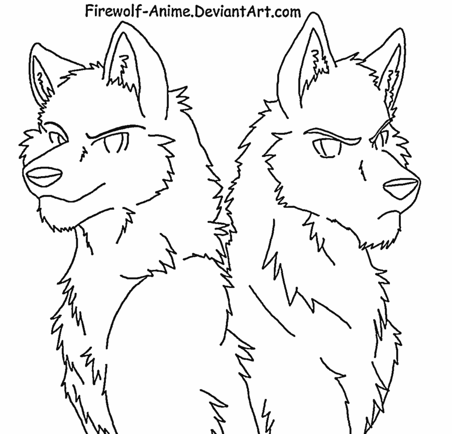 sad wolf drawings anime wolf lineart drawing sketch rysunek