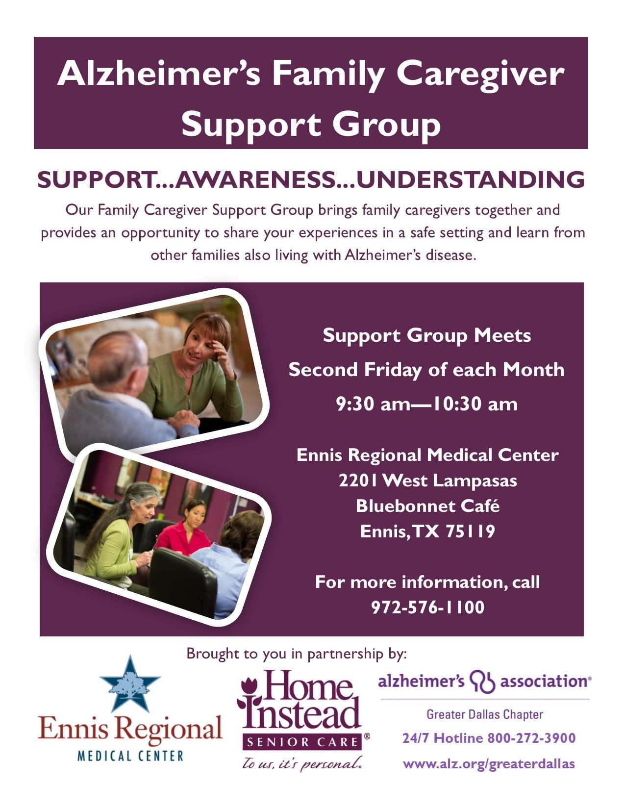 Alzheimer's Family Caregiver Support Group in Ennis, TX on ...