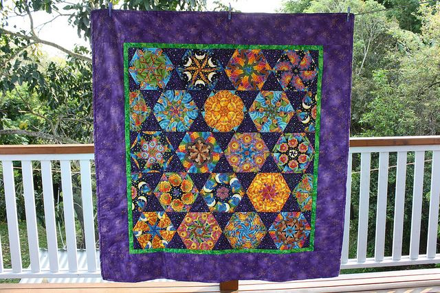 kaleidoscope quilts | 60 Degree Kaleidoscope Quilt | Flickr - Photo Sharing!