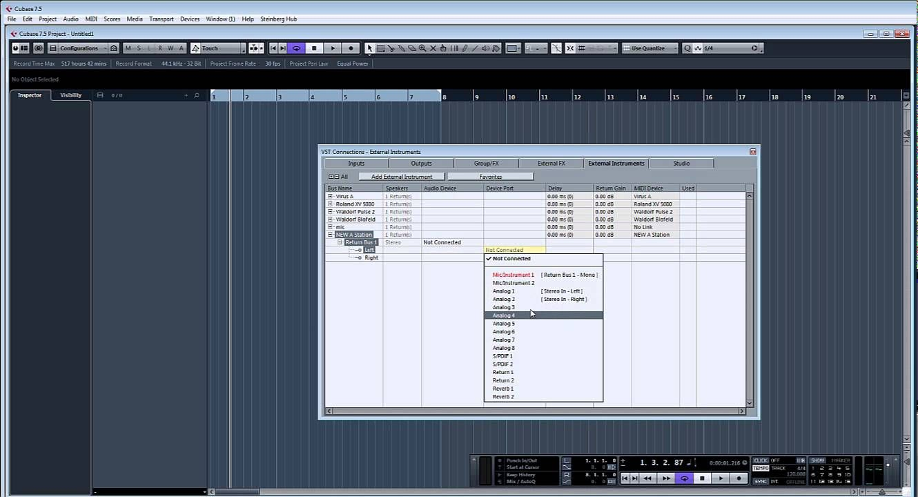 ADSR Pro setting up external synths to work like VST