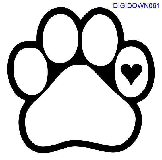 Download Pin by Vickie Moyer on Craft | Dog paws, Dog paw drawing, Svg