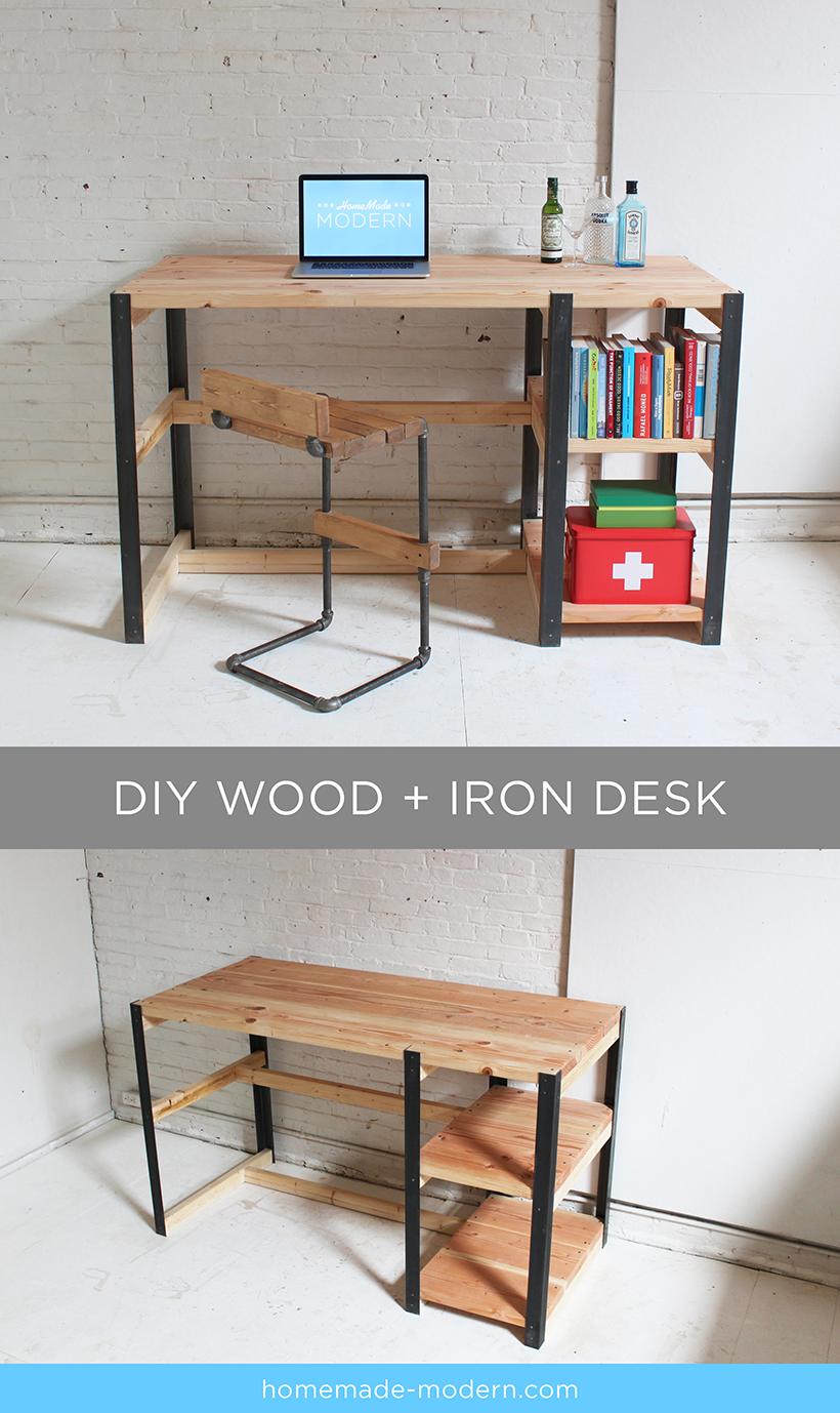 Simple Modern Writing Desk Wooden Computer Desks Diy Wooden Desk Diy Computer Desk