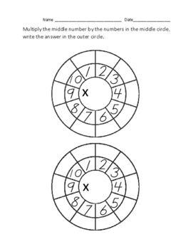Blank Multiplication Wheel Template Multiplication Wheel Multiplication Math Centers
