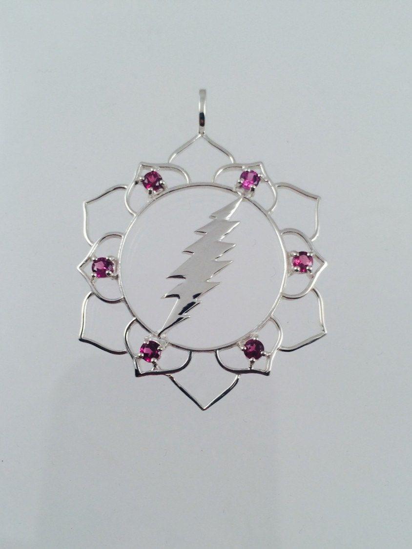 Grateful dead lotus flower 13 point lightning bolt pendant with 6 grateful dead lotus flower 13 point lightning bolt by wooknook13 izmirmasajfo