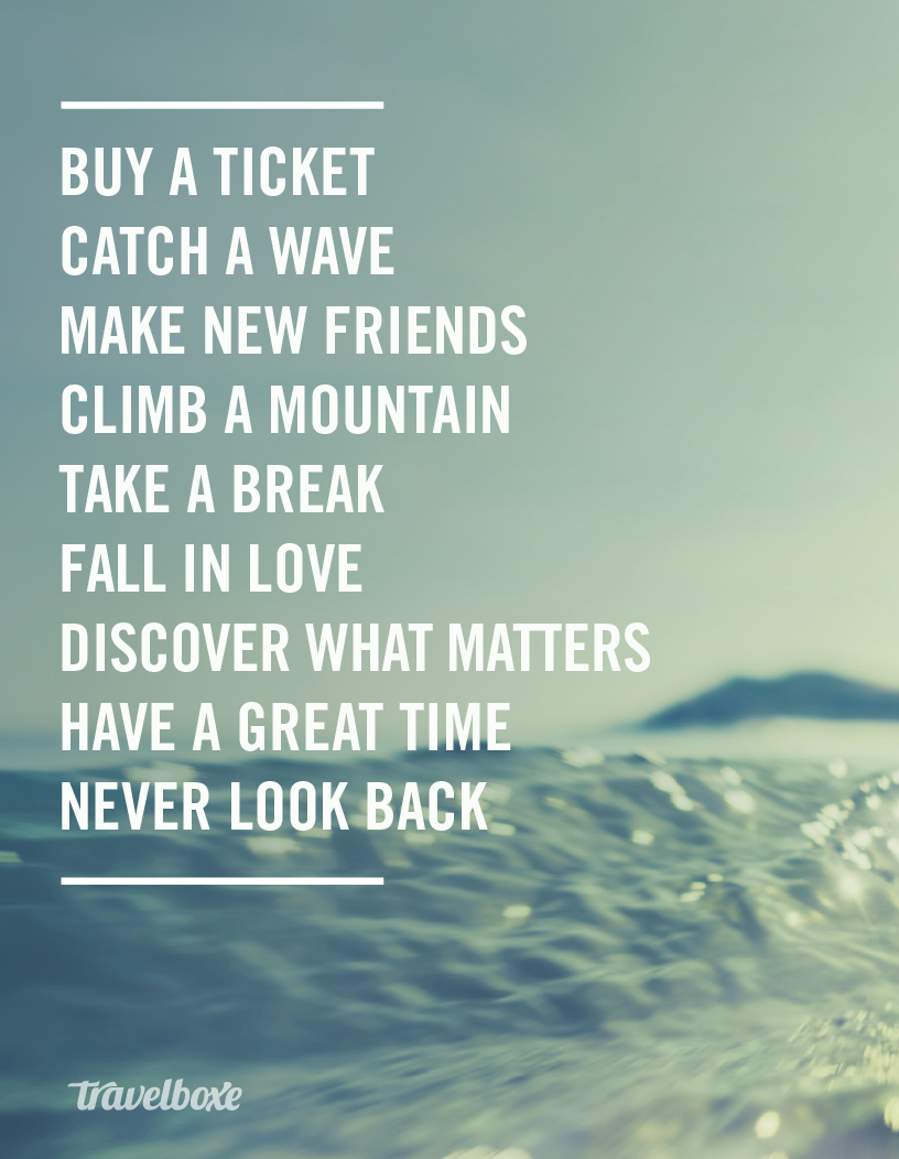 Never Look Back Travel Inspiration Quotes Keep Track Of Your