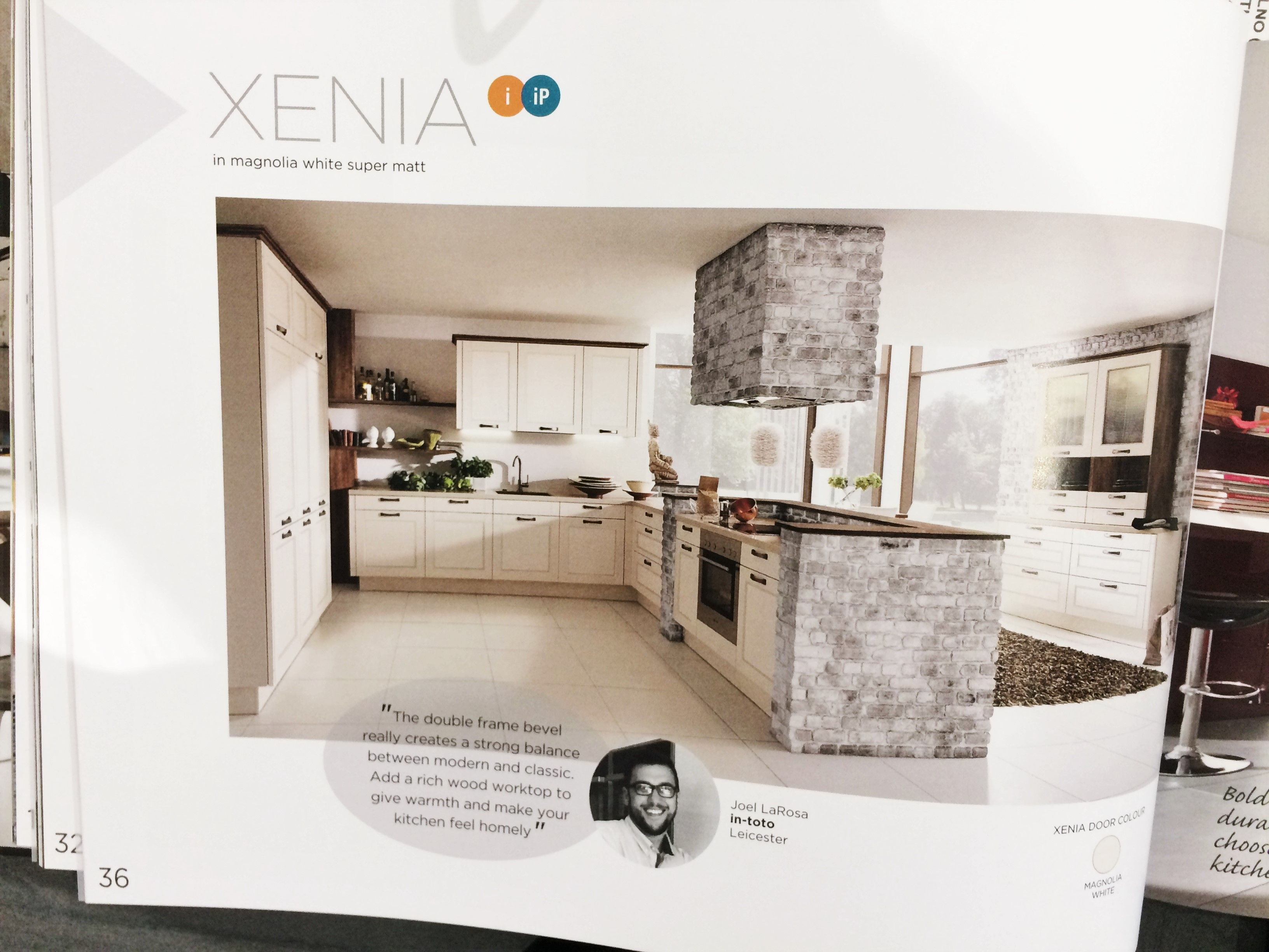 Chosen For You A Kitchen This Month Xenia In Magnolia White Super Matt