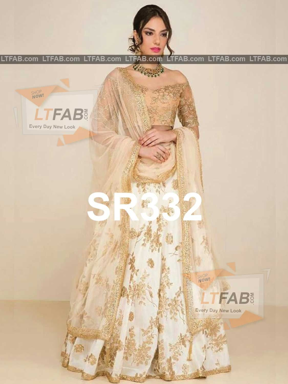 4cb4367d1a08f Purchase the New Banglori White Colour Indian Latest Designer Bridal  Lehenga Choli-SR332 with Matching Color unstiched blouse. It contained the  Embroidered ...