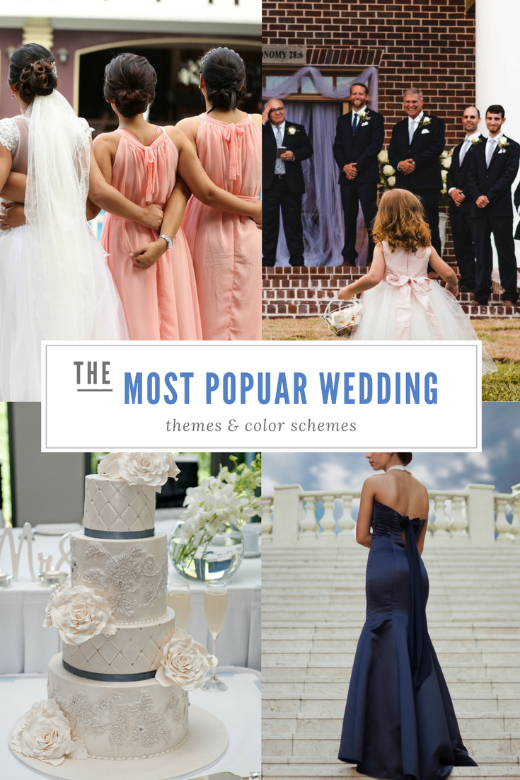 The Most Popular Wedding Themes and Colors for 2017-2019 | Popular wedding  themes, Popular wedding colors, Wedding themes