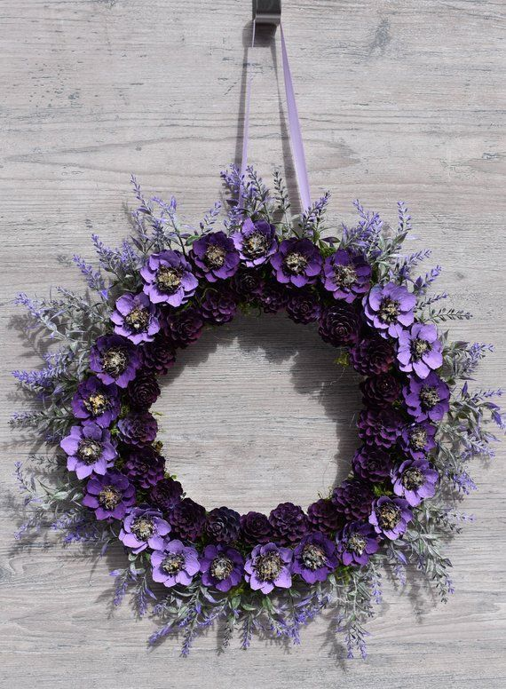Pine Cone Flower Wreath #pineconeflowers Pine Cone Flower Wreath Wall Hanging Purple Wreath with Hand Cut /Painted Pine Cone Flowers Great Gift For Mom #pineconeflowers Pine Cone Flower Wreath #pineconeflowers Pine Cone Flower Wreath Wall Hanging Purple Wreath with Hand Cut /Painted Pine Cone Flowers Great Gift For Mom #pineconeflowers