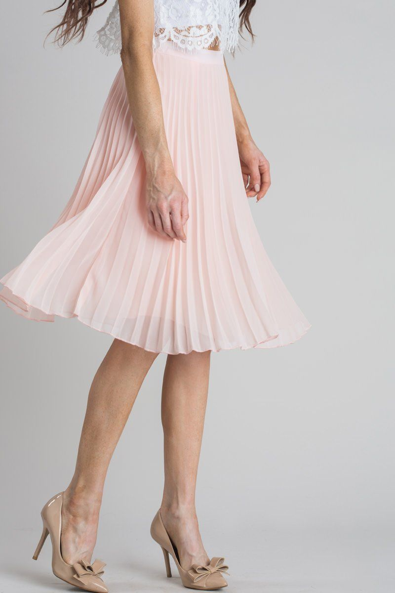 776f293af Petite Camille Pink Pleated Midi Skirt - Morning Lavender | My Style ...
