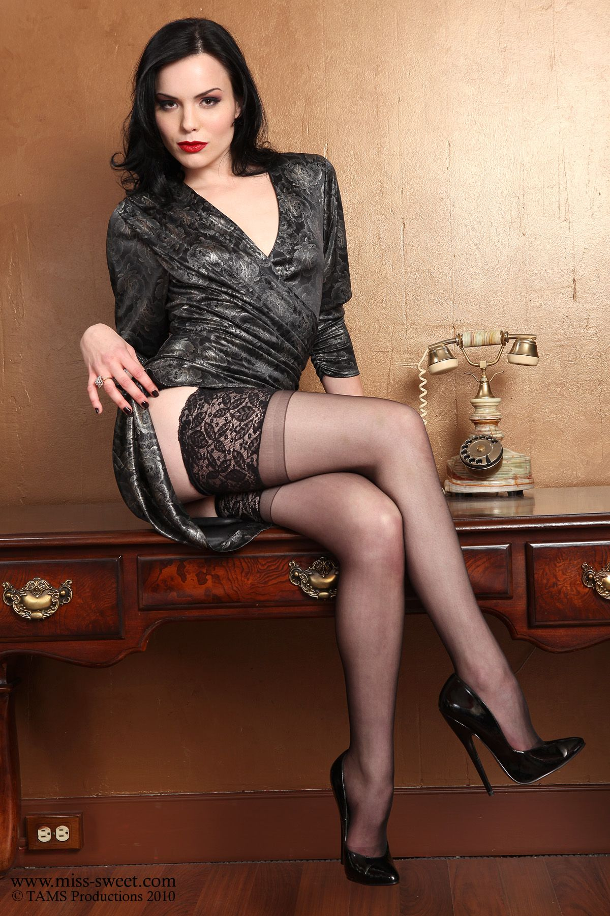 Hot black stockings and legs