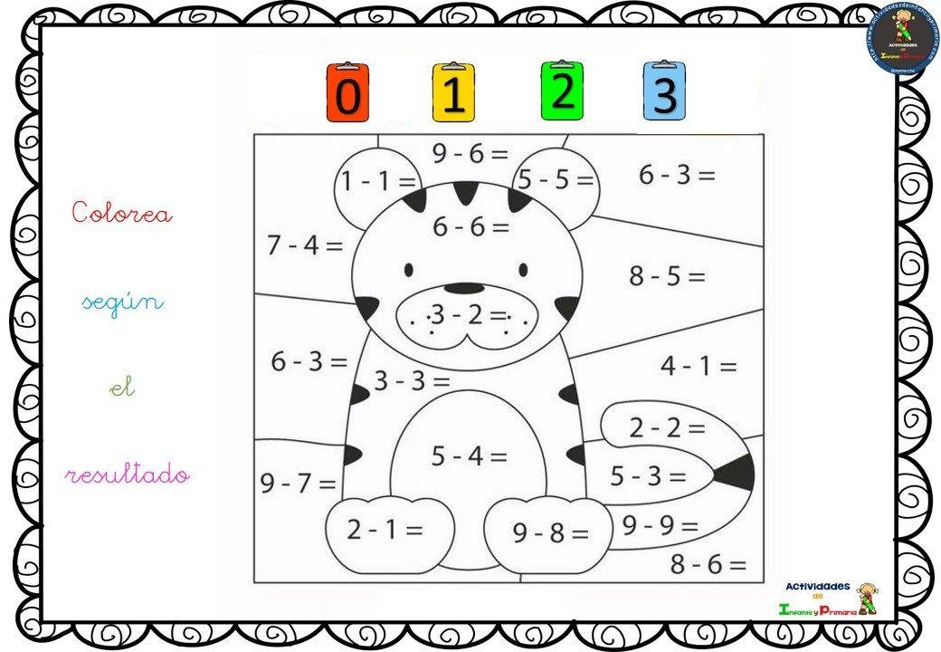 Colorea Según El Resultado Resolviendo Sumas Y Restas 8 Alumnos