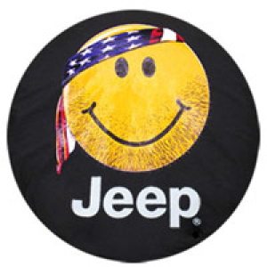 Jeep Smiley Face With Bandana Tire Cover Jeep Tire Cover Jeep