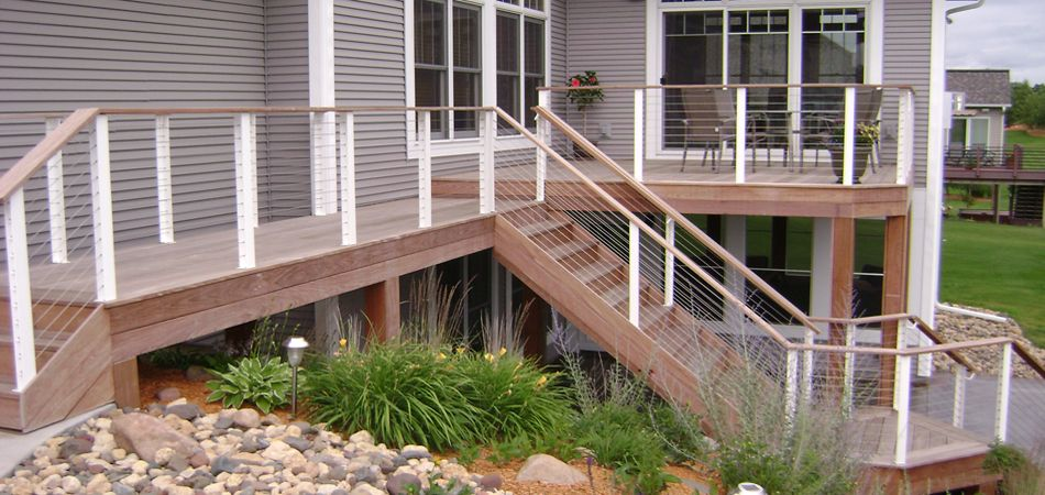 cable deck railing | home gallery decks railings staircases ...