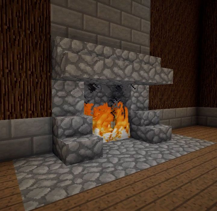 Minecraft Furniture Fireplaces Amazing Minecraft