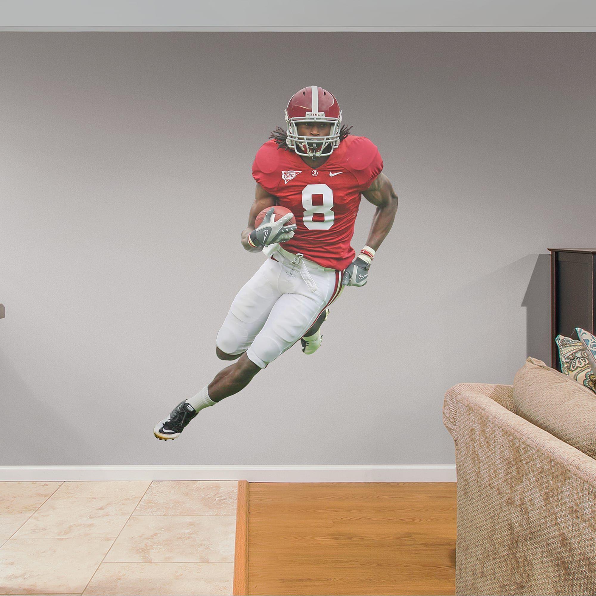 Julio Jones Alabama Life Size Officially Licensed Removable Wall Decal Removable Wall Decals Alabama Crimson Tide Football Bedroom