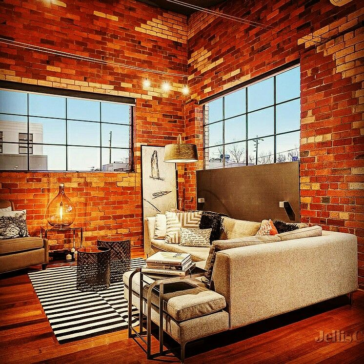 Abbotsford Warehouse Conversion Lounge Room Outdoor Decor Patio