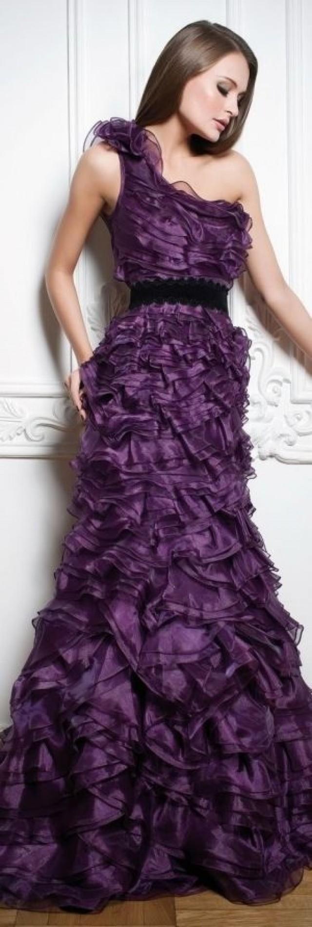 Gownspurple passions style pinterest purple wedding