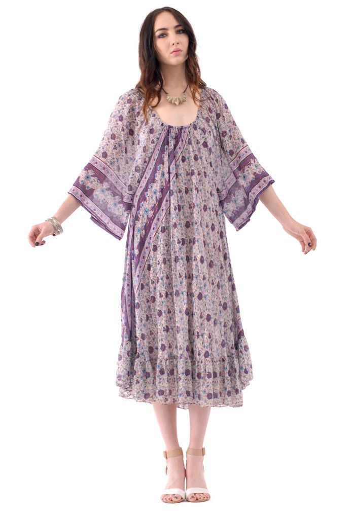 ab59d85f668 Fields of Violet Indian Gauze Dress | Spanish Moss | Vintage Worship ...