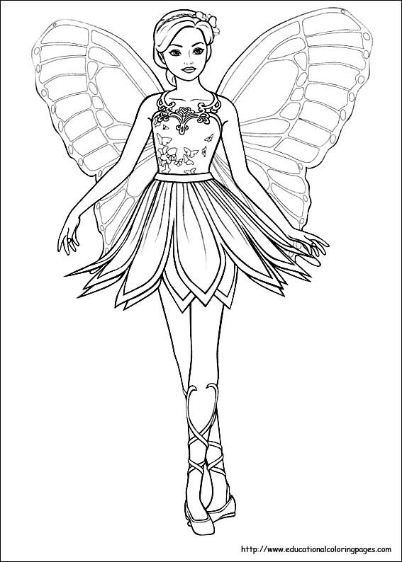 Fairies Coloring Pages Free For Kids Fairy Coloring Pages Barbie Coloring Pages Princess Coloring Pages