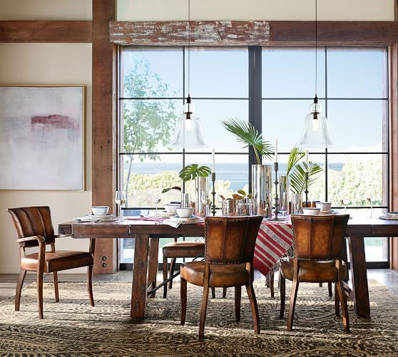 Benchwright Extending Dining Table Rustic Mahogany Home Dining